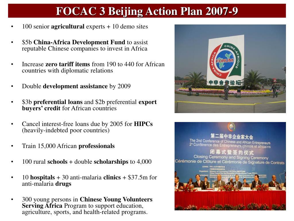 FOCAC 3 Beijing Action Plan 2007-9