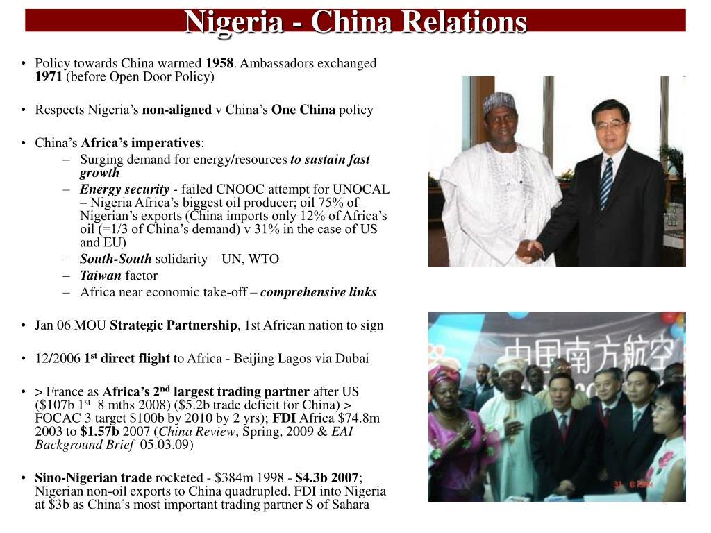 Nigeria - China Relations