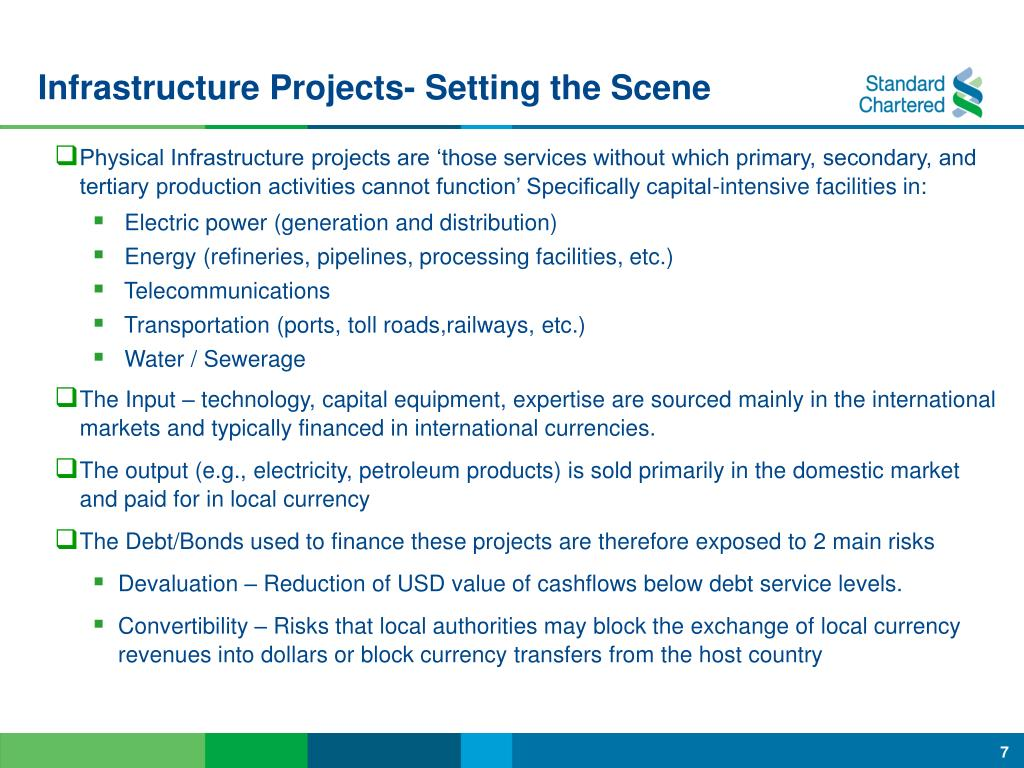 Infrastructure Projects- Setting the Scene
