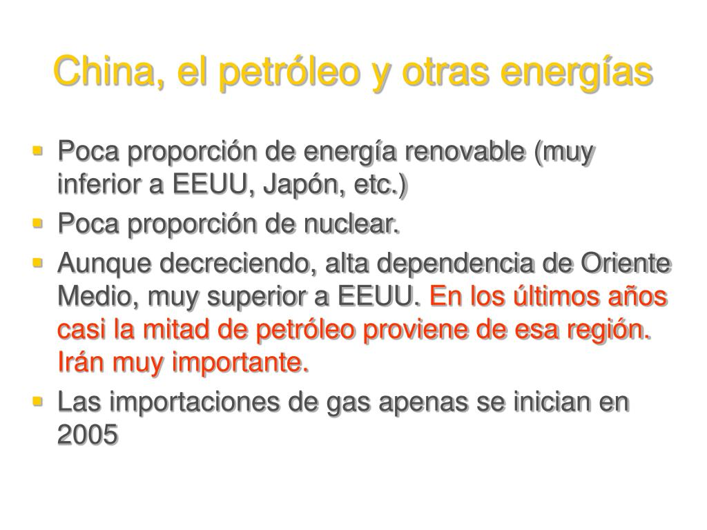 China, el petróleo y otras energías