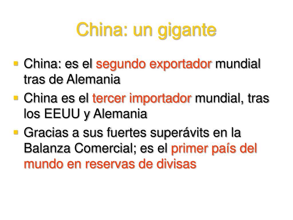 China: un gigante