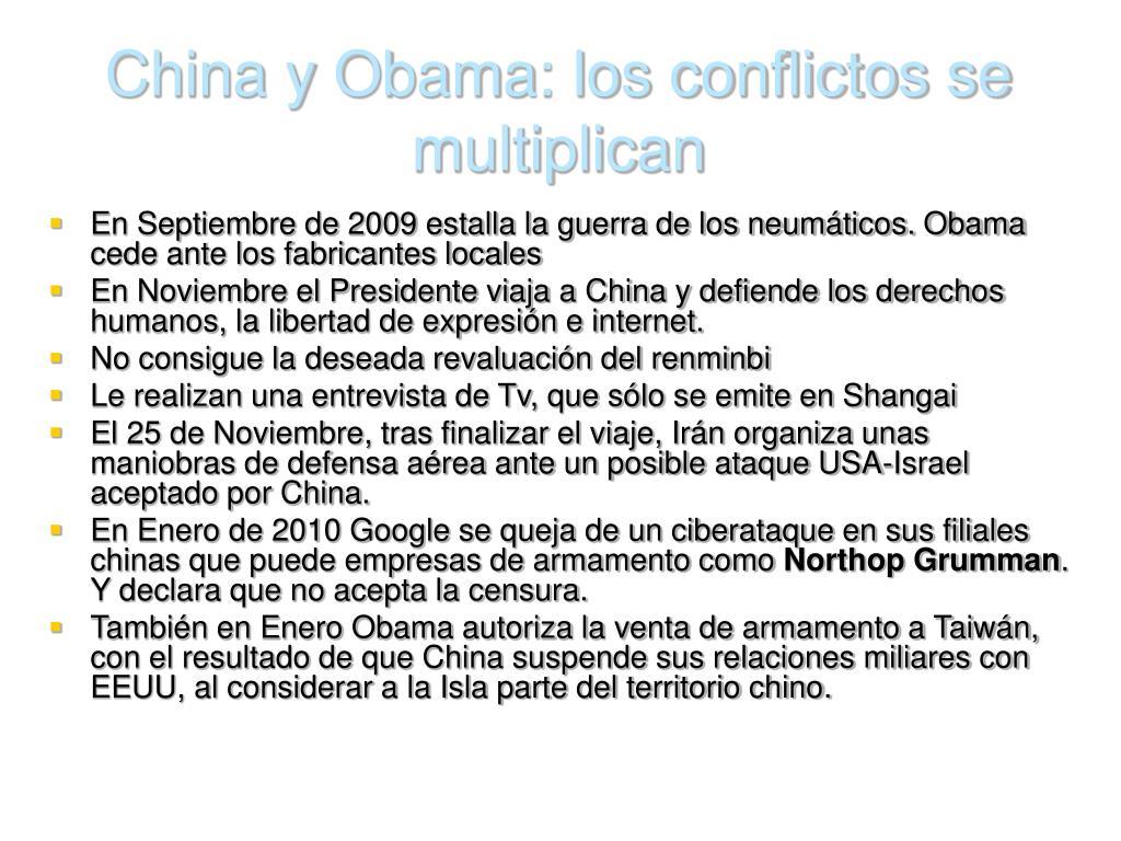 China y Obama: los conflictos se multiplican