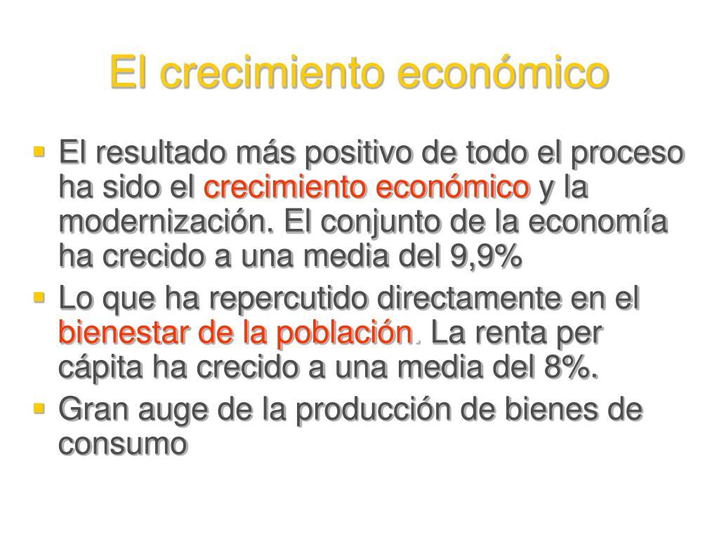 El crecimiento económico