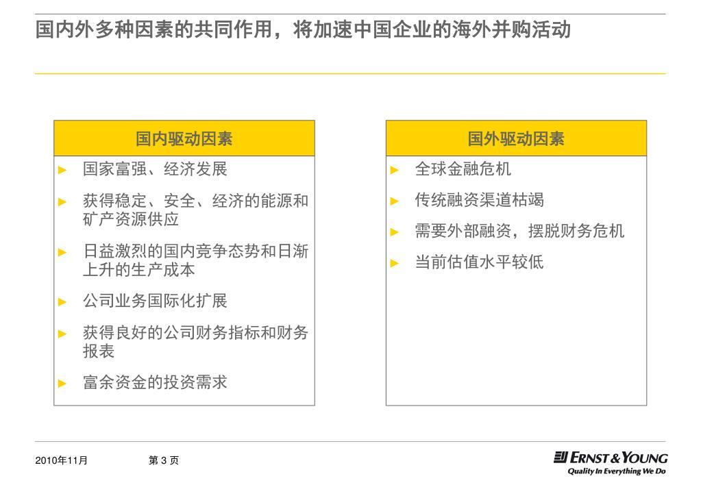 国内外多种因素的共同作用,将加速中国企业的海外并购活动