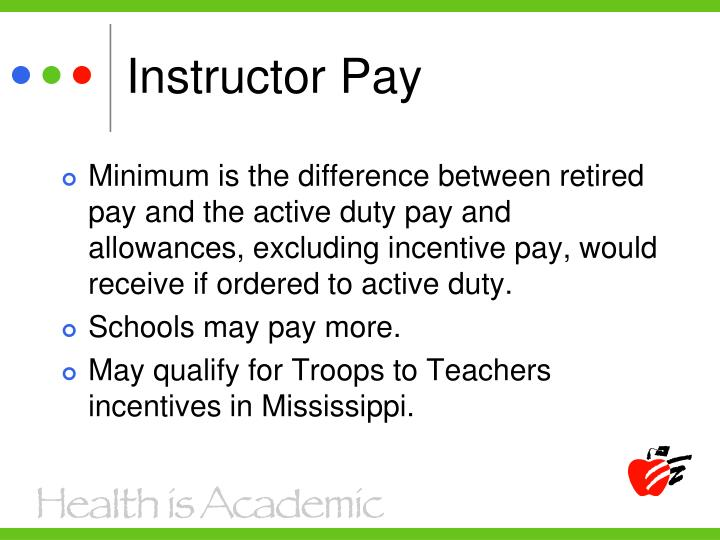 Instructor Pay