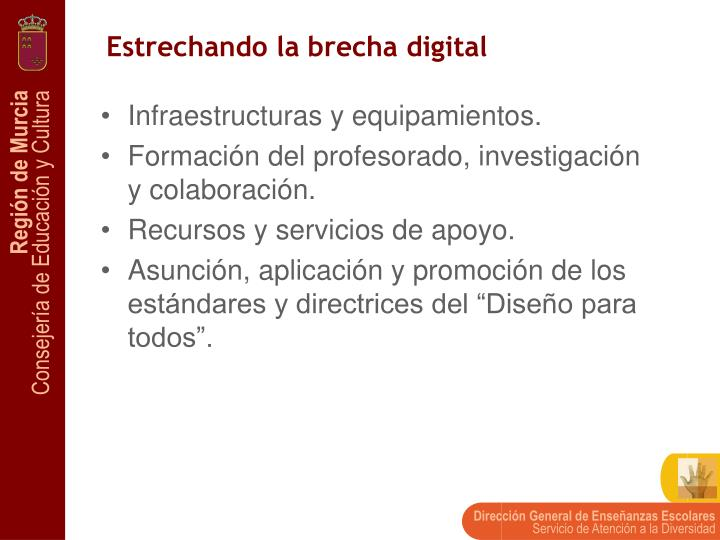 Estrechando la brecha digital