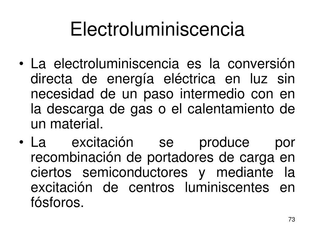 Electroluminiscencia