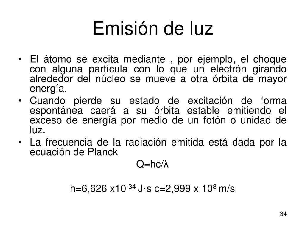 Emisión de luz