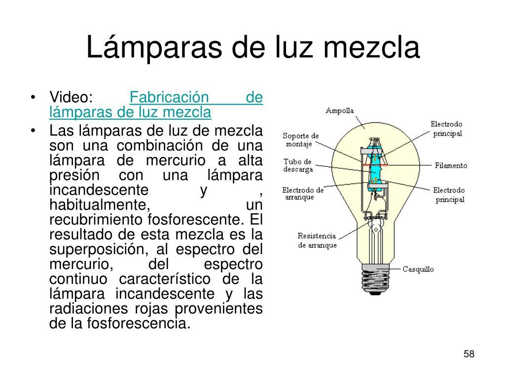 Lámparas de luz mezcla