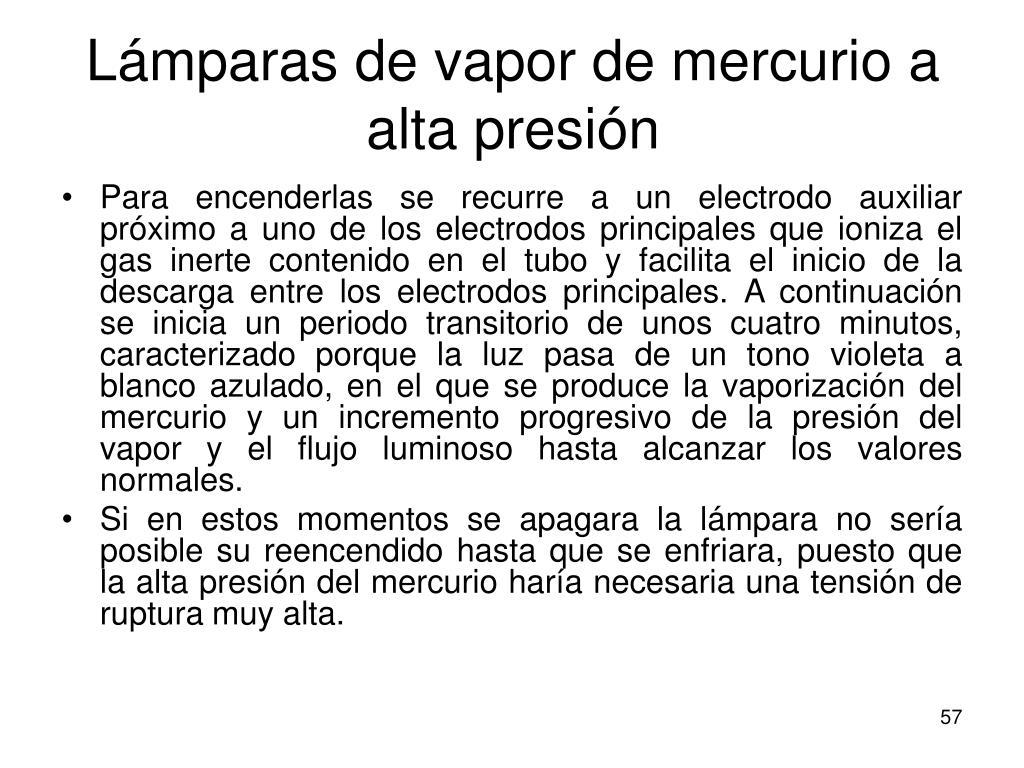 Lámparas de vapor de mercurio a alta presión