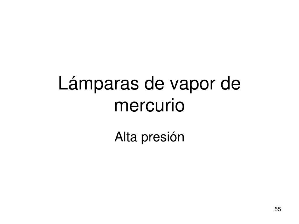 Lámparas de vapor de mercurio