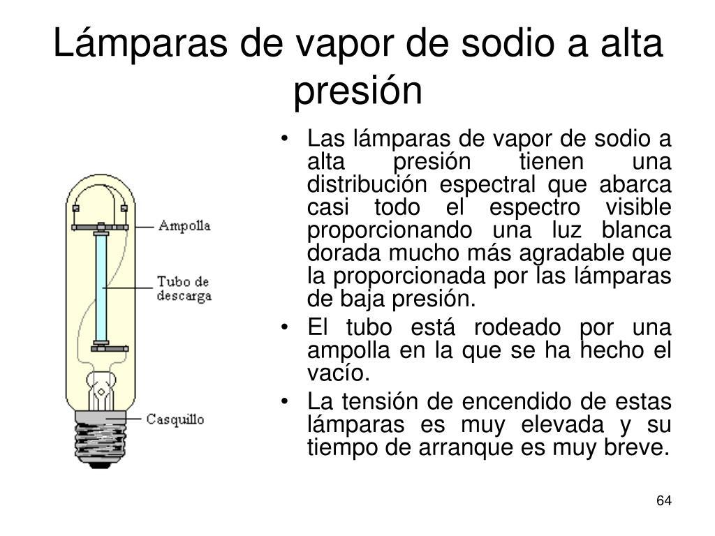 Lámparas de vapor de sodio a alta presión