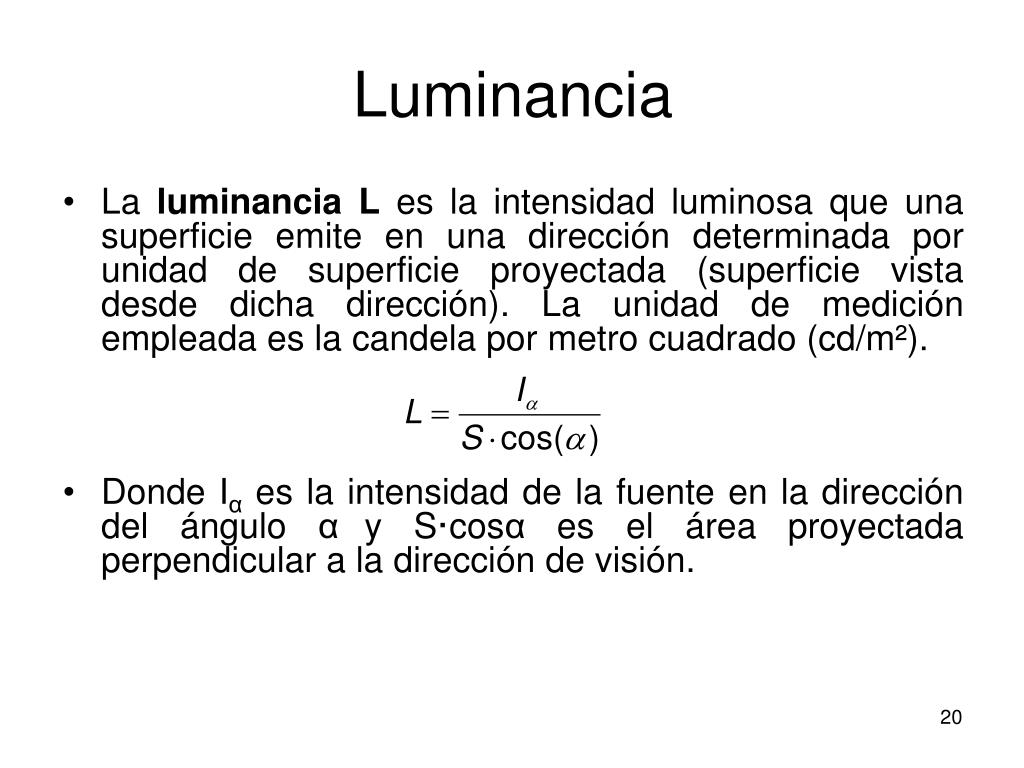 Luminancia