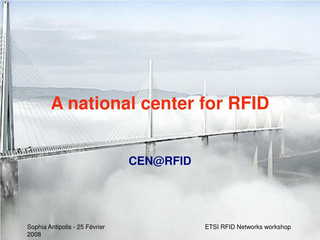 A national center for RFID