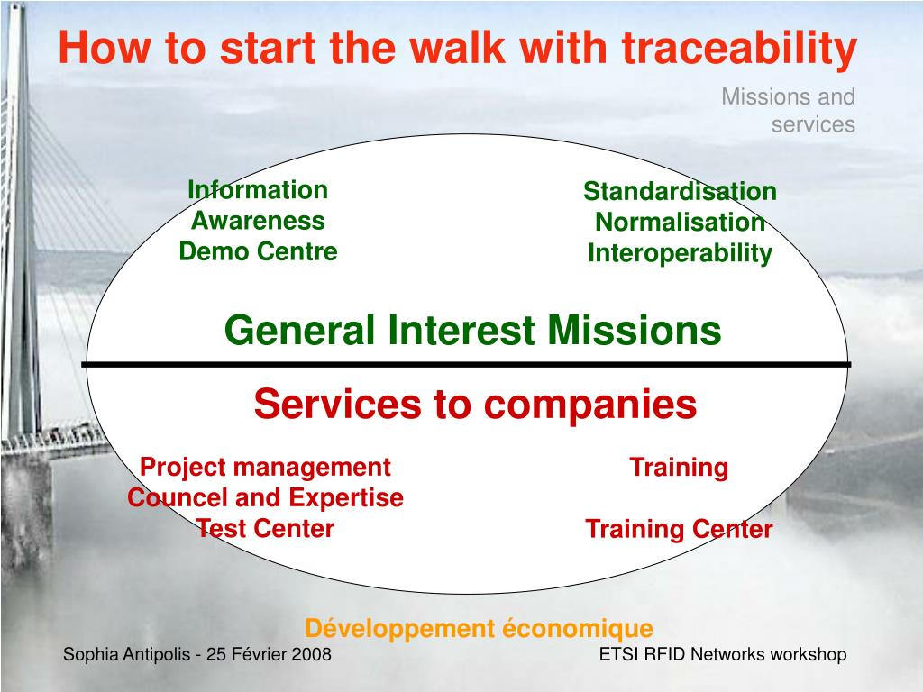 How to start the walk with traceability