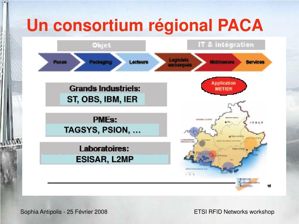 Un consortium régional PACA