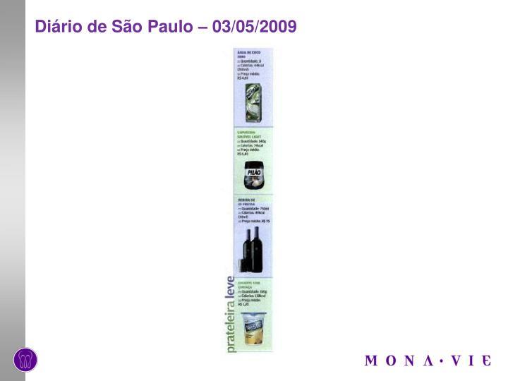 Diário de São Paulo – 03/05/2009