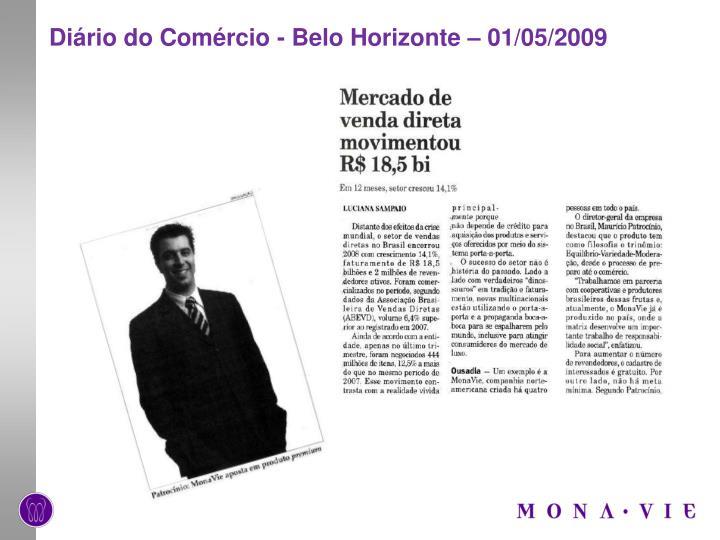 Diário do Comércio - Belo Horizonte – 01/05/2009