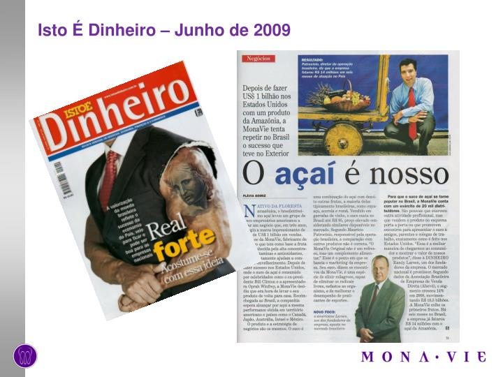 Isto É Dinheiro – Junho de 2009