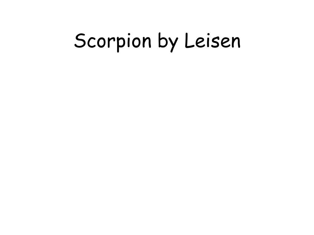 Scorpion by Leisen