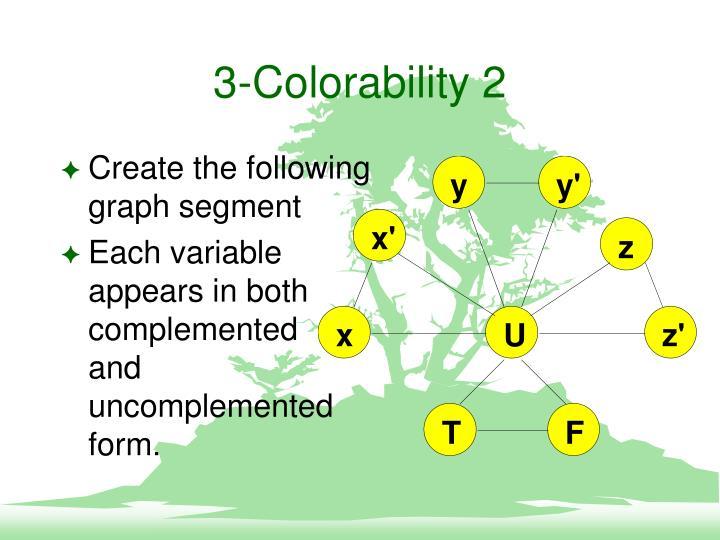 3-Colorability 2
