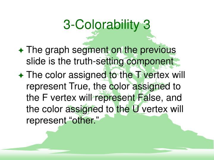 3-Colorability 3
