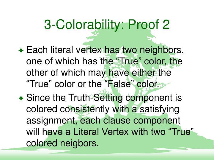 3-Colorability: