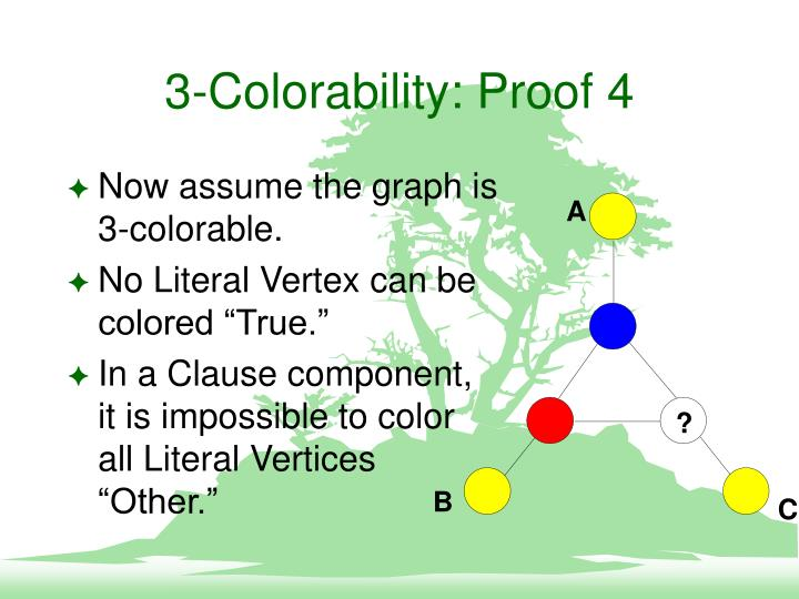 3-Colorability: Proof 4