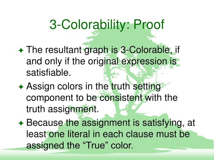 3-Colorability: Proof