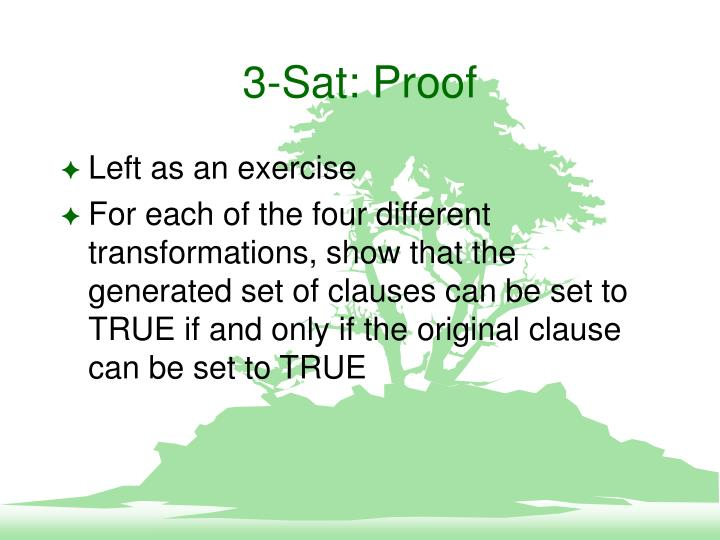 3-Sat: Proof