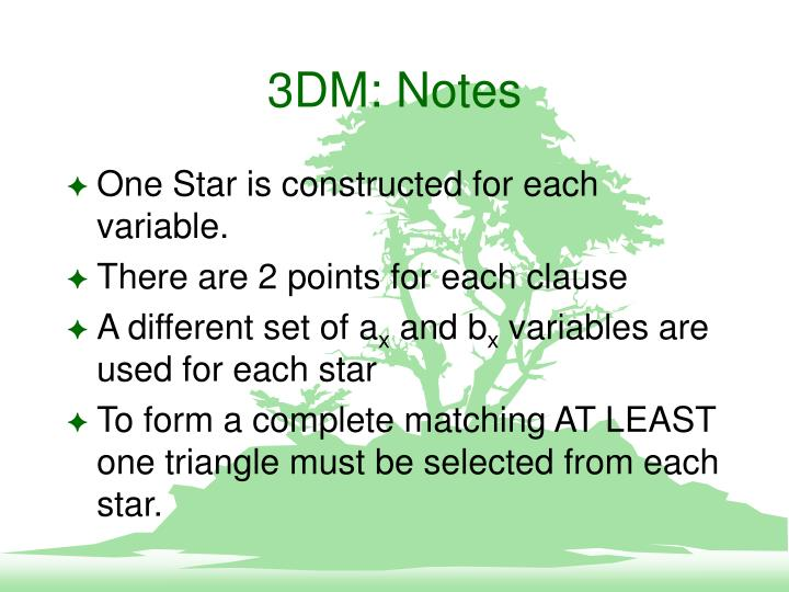 3DM: Notes