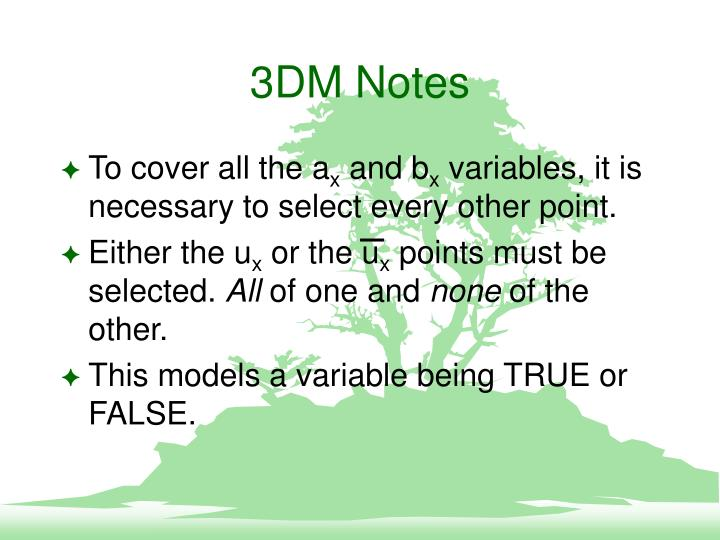 3DM Notes
