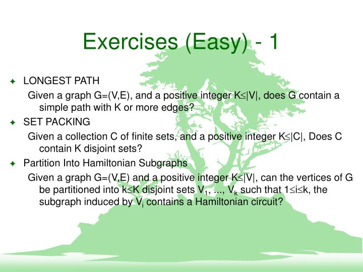 Exercises (Easy) - 1
