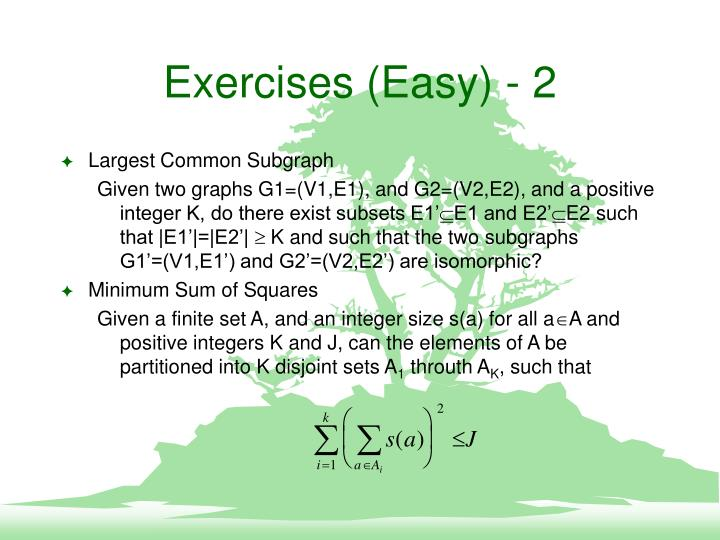 Exercises (Easy) - 2