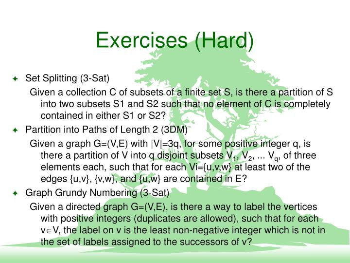 Exercises (Hard)
