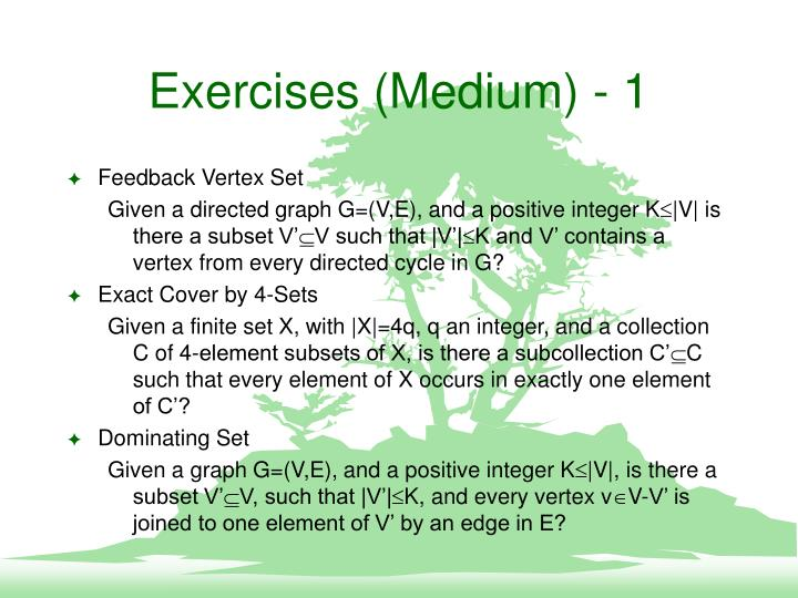 Exercises (Medium) - 1