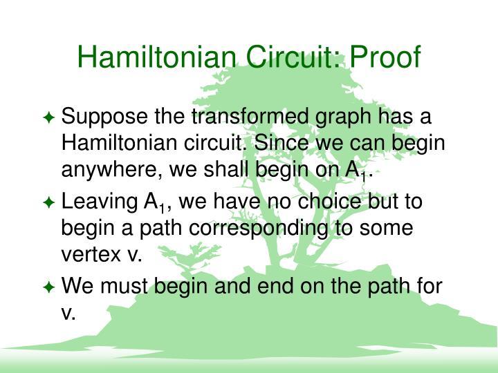 Hamiltonian Circuit: Proof