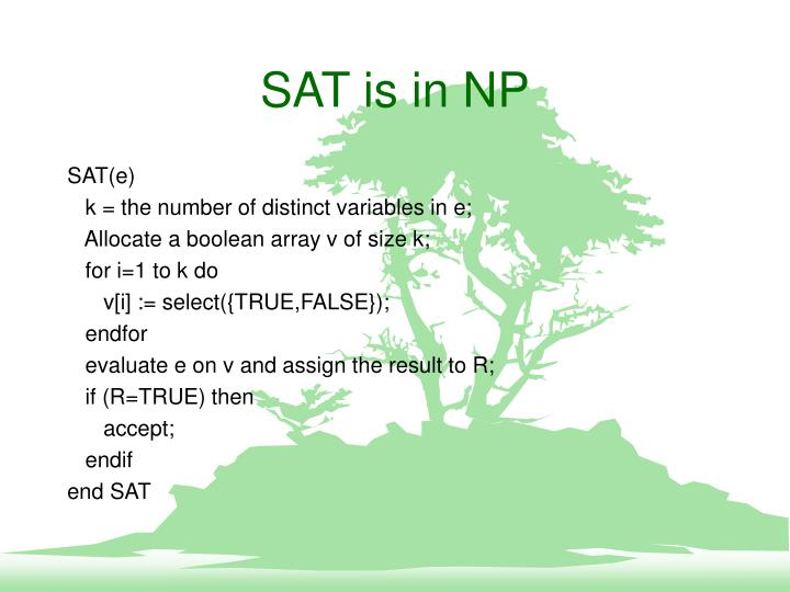 SAT is in NP