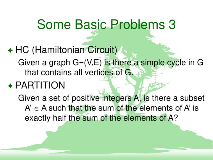Some Basic Problems 3
