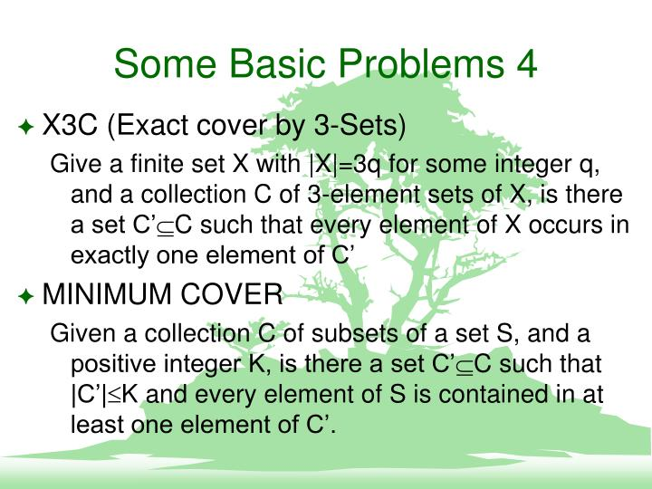 Some Basic Problems 4
