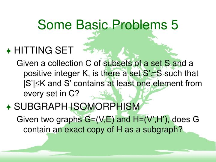 Some Basic Problems 5