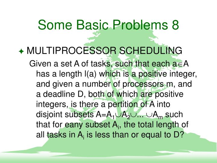 Some Basic Problems 8