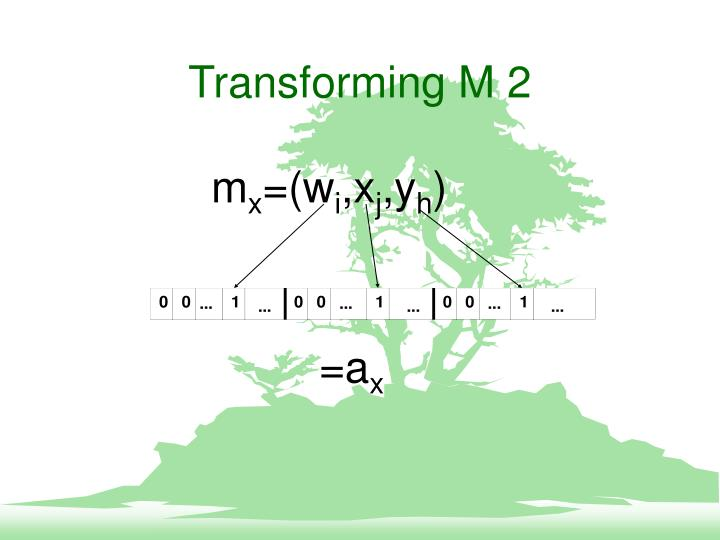 Transforming M 2