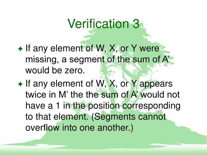Verification 3