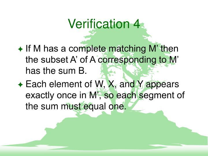 Verification 4