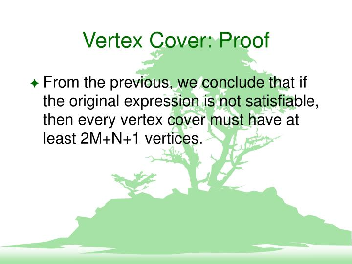 Vertex Cover: Proof
