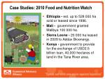 case studies 2010 food and nutrition watch