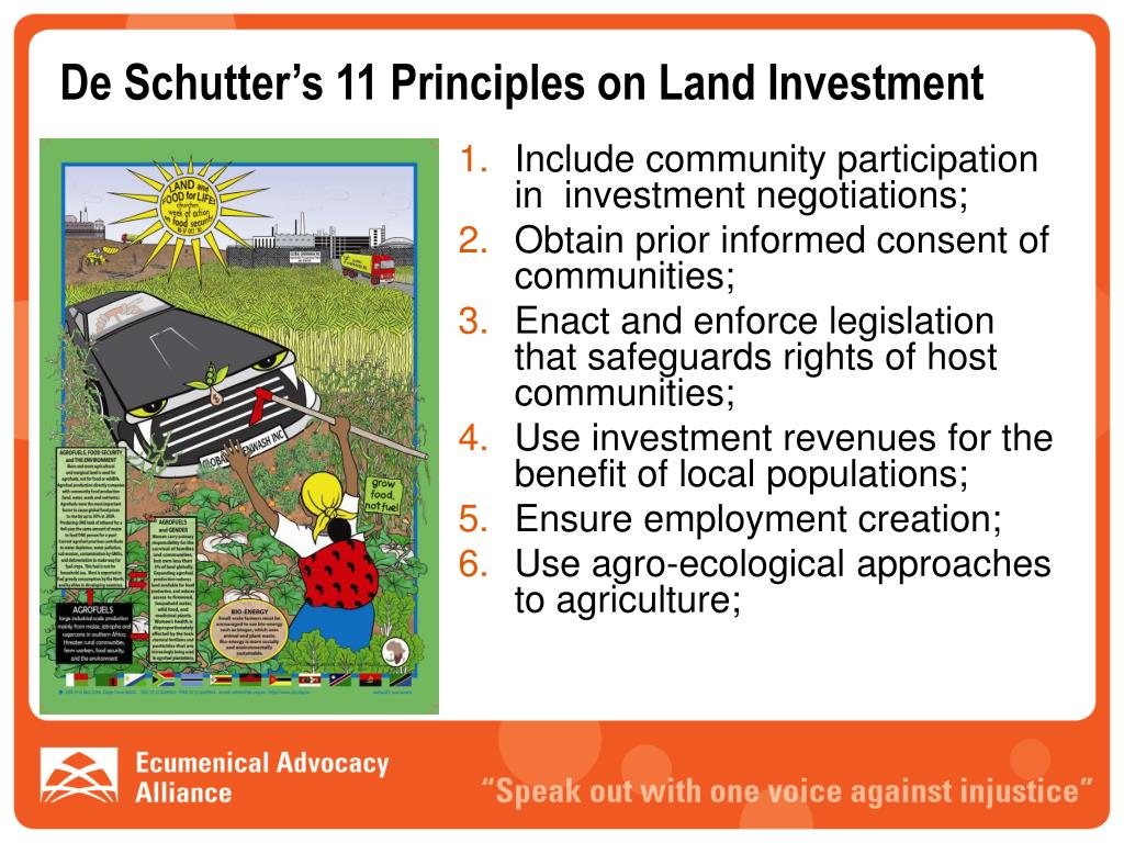 De Schutter's 11 Principles on Land Investment