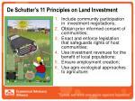 de schutter s 11 principles on land investment