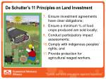de schutter s 11 principles on land investment17